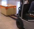 Conveyer forks handling cartons