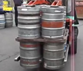 Keg clamp loading trucks – 12 kegs at a time
