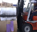 Fork clamp handling waste bales