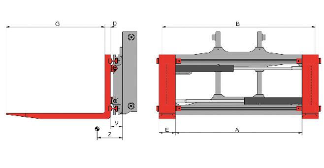 Integral Sideshift Fork Positioning