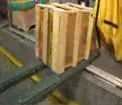 Conveyor forks handling small boxes