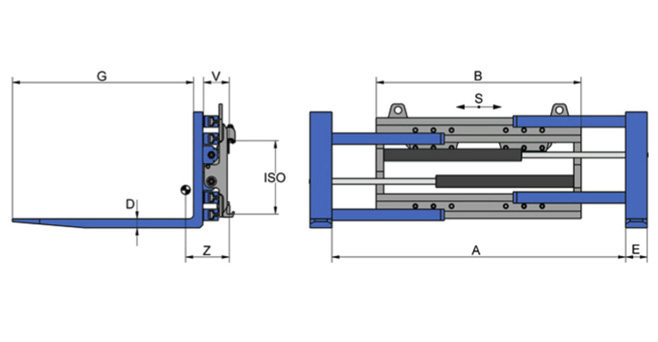 Turn-a-Fork Hydraulic Clamp
